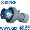 110V IP67 Yellow 32AMP Cable Industrial Plug and Socket (QX-280)