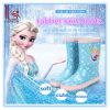 Frozen Princess Cute Children Girls Wellies Shoes Antislip PVC Rubber Rain Boots Galoshes