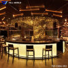 Luxury Modern Fancy Design U Shape White Commercial Marble Solid Surface Restaurant Bar Counter