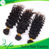 Deep Wave Human Virgin Peruvian Hair for Competitive Price