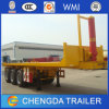 3 Axles 40FT Container Trailer, Hydraulic Flatbed Tipper Container Trailer