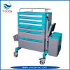 ABS Movable Medical Hospital Medicine Trolley