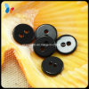 Black Round Nature Two Holes Shell Button