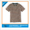 Yarn Dyed Striped Men Cotton Round Neck T-Shirt