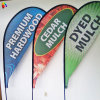 100% Polyester Advertising Drop Banner Flag with Flagpole Stand