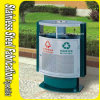 Outdoor Stainless Steel Waste Bin with Ashtray