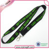 Custom Double Layers Woven Lanyard with Metal Hook