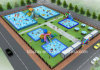 40X60m Inflatable Water Park Design as Per Actual Area