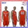 Ozeason Fully Sublimated Orange Basketball Jersey Uniform Sportswear