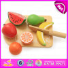 New Wooden Role Play Set Toy Cutting Fruit, Wooden Customized Cheapest Cutting Fruit Toys W10b131