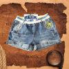 Fashion Design Ladies Denim Short Jean with Elastic Waistband (HDLJ0006)