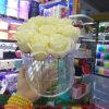 9 Holes Round Clear Acrylic Flower Box