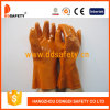 Ddsafety 2017 Orange PVC Industry Gloves 100% Cotton Liner