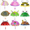 Cartoon 3D Rain Umbrellas Cute Girls Boys Pop-up Ear Dome Umbrellas