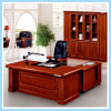 Solid Wood Frame L Shape Office Furniture Writing Desk Boss Desk
