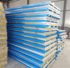 Fireproof Blue Color Rock Wool Sandwich Panel for House Wall