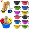Pet Dog Cat Collapsible Feeding Bowl Travel Portable Silicone Water Dish Feeder (XY-ST-027)
