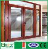 Wood Color Aluminum Frame Casement Door