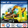 Cimc 3 Axle Lowbed Lowboy Semi Trailer with Spring Ramp Hydraulic Ramp Ladder