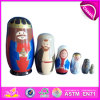 2016 Colorful Russia Wooden Toy, Matryoshka Wooden Dolls Toy, Intellectual Baby Wooden Toy W06D038