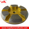 6 Segment Grinding Pucks for Concrete Grinding with Rubber Layer and Vecro