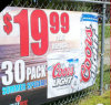 Cheap Price Heavy Duty Outdoor Promotion Supermarket Banner
