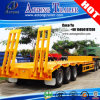 Fuwa Brand 3 Axles 50ton Lowboy Semitrailer with Spare Tires