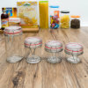 Wholesale Transparent High Quality Airtight Storage Glass Jar (100037)