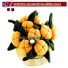 Promotional Promotion Gifts for Home Decor Textile Orange Pumpkin Flower (G1018A)