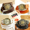 2013 Popular Long Strap Leather Wrap Watch (KD-FS60)