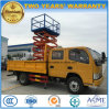 6 Wheels Double Cab Aerial Platform Scissor Over Head Working Truck