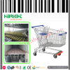 Zinc Plated Large Shopping Trolley Shopping Cart for Supermarket