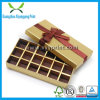 Custom with Ribbon Gold Color Paper Gift Box for Candy