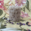 Wholesale Pillar Candle with Flower Square