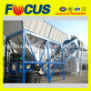 25m3/H - 75m3/H Towable Concrete Batching Plant with Truck Chassis