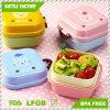Cartoon Cute Bear Lunch Box Food Container Storage Portable Bento Spoon School