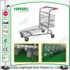 Zinc Plated Heavy Duty Metallic Warehouse Platform Trolley
