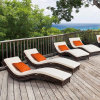 PE Wicker Sun Lounger Double Bed/ Beach Chair by PE Rattan T507