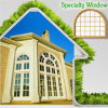 Modern Specialty Aluminum Window for Your House, Architecturally Inspired and Elegant Style Specialty Aluminum Alloy Window