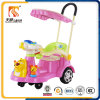 Kids Swing Car with Push Bar and Canopy Wholesale