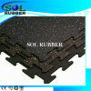 High Quality EPDM Flecks Fitness Floor Interlock Rubber Tile
