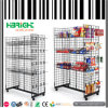 H Shape Wire Grid Wall Display Rack with Baskets & Hooks