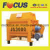Js3000 Large Twin Horizontal Shaft Concrete Mixer with 2X10 Mixing Blade
