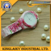 Top Grade Silicone Watch with Flowers Printing for Gift (KW-014)
