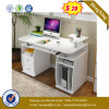 White Color MDF Laminated Wooden Computer Office Table Desk (UL-MFC327)