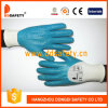 Ddsafety 2017 White Nylon Blue Nitrile Coated Work Glove
