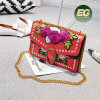 Top Selling Women Handbags Embroidered Flowers Ladies Single Shoulder Bag Studded Handbag From China Suppliers Sy8497