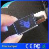 Wholesale Free Company Logo LED Light Crystal USB Flash Drive