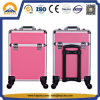 Hot Sale New Product Ladies Beauty Trolley Case Aluminum Case for Nail Arts & Perfume (HB-6340)