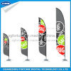 Cheap and High Quality Beach Flags Feather Shape